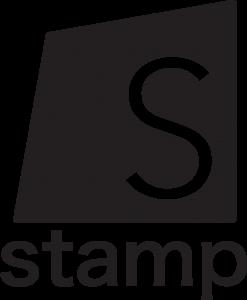 stamp logo black